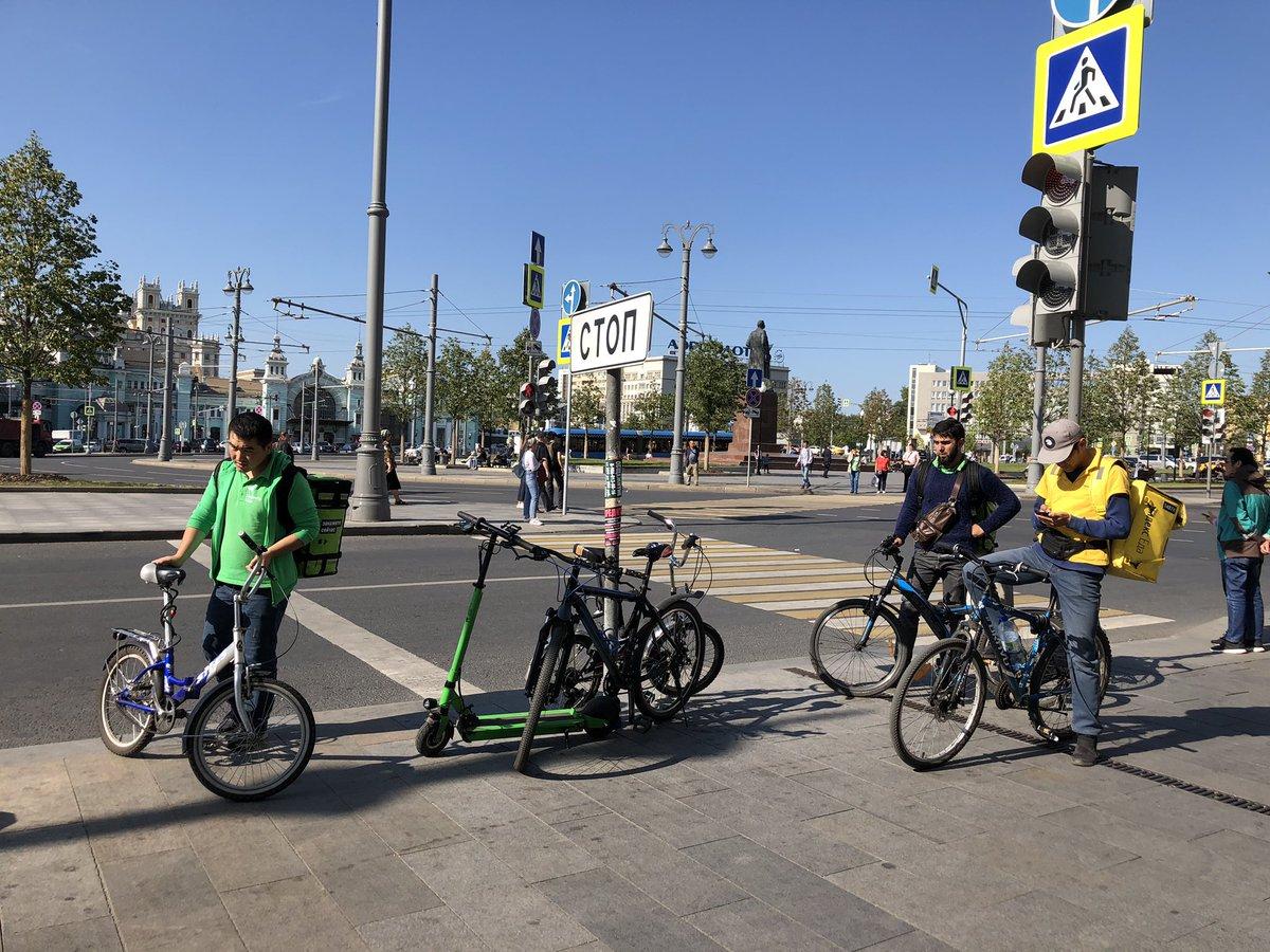 Работа велокурьером в Москве
