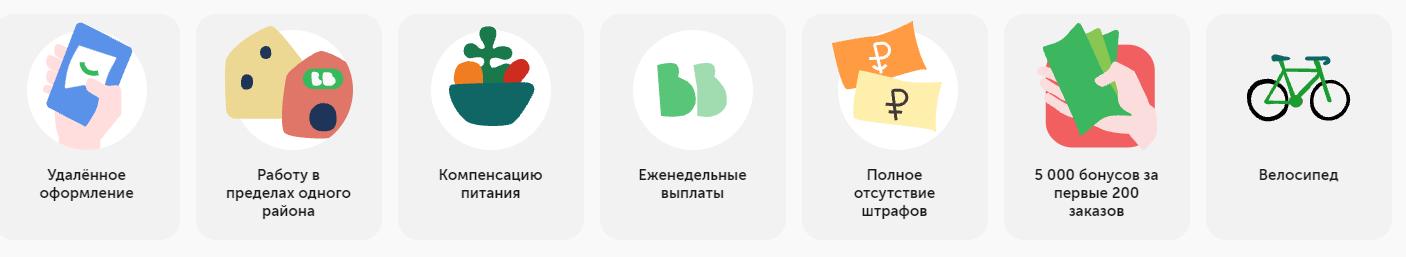 Вакансия велокурьер Вкусвилл Москва